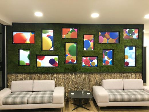 EIZO Singles Out Matrox to Power a Charming Artistic Video Wall in New Corporate Lobby