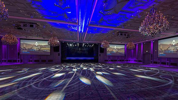 Christie brings glittering projection to luxury hotel