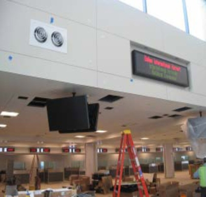Plenum Equipment Box used at Dulles International Airport