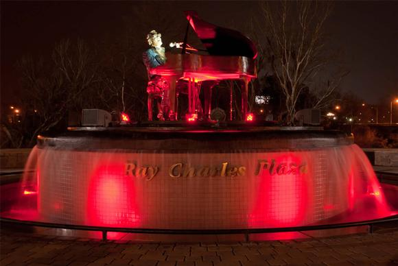 Ray Charles Plaza Fountain