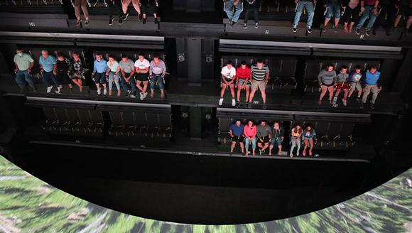 Christie RGB laser projectors used in soaring ride