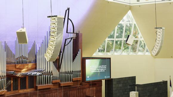 Meyer Sound LINA Arrays Flown in First Trio of Churches