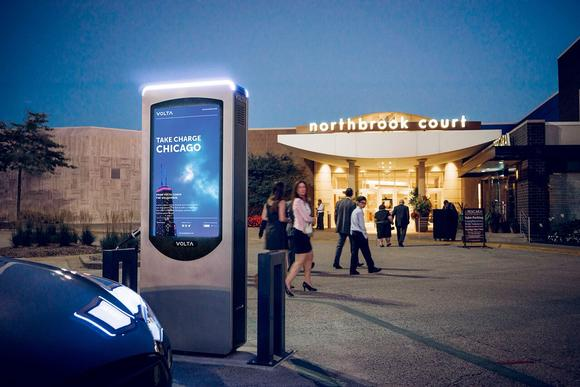 Peerless-AV Works with Volta Industries to Create Custom Electric Vehicle Charging Stations